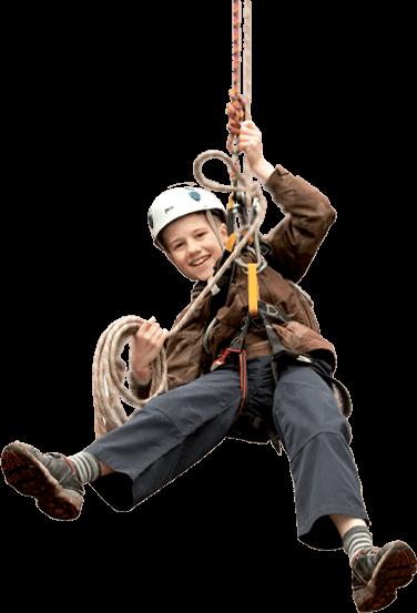 ziplining kid