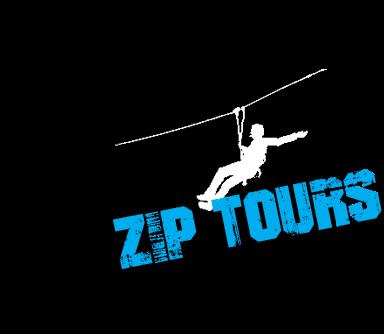zip lining winter logo