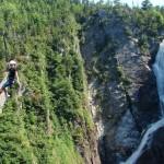 zip line near the waterfall