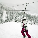 zip lines are also fun in the winter