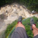 first person photograph over the river