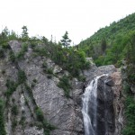small waterfall on the mountain