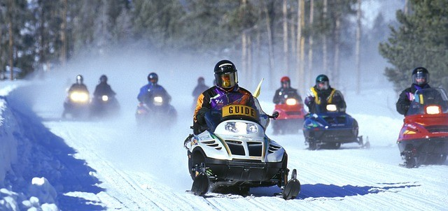 mountain snowmobiling